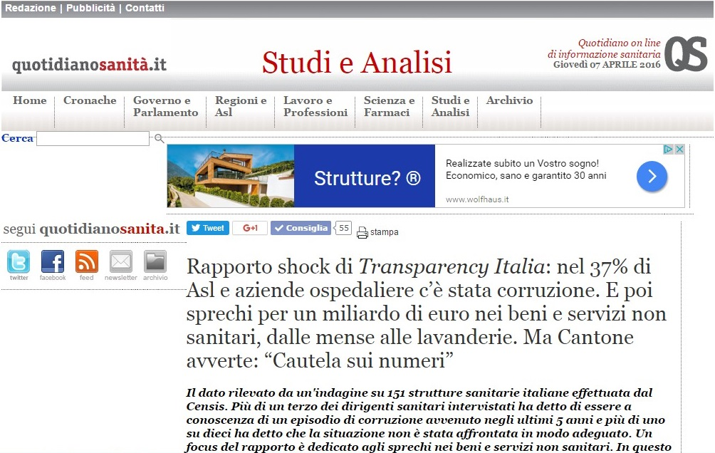 News dal web: quotidianosanita.it