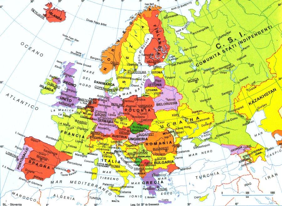 Cartina Geografica Europa Italiano.Per L Eurostat Sono La Sicilia E La Campania Le Regioni Piu Povere